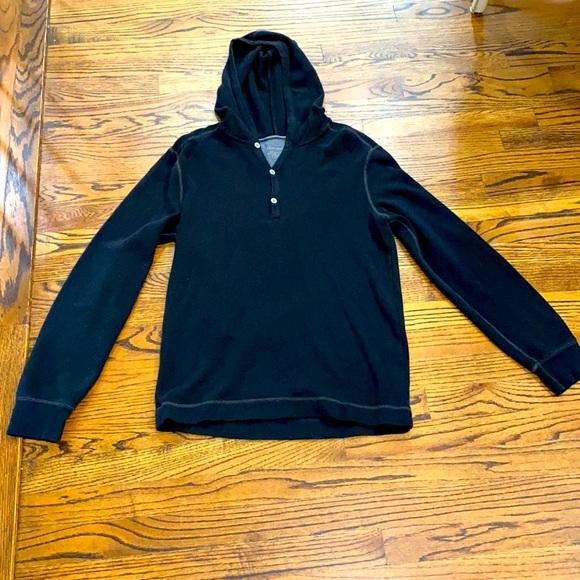 Casual Banana Republic Black Hooded Shirt
